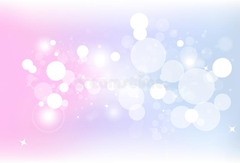 Fantasy colorful bokeh blur bubble air with stars dust glitter s vector illustration