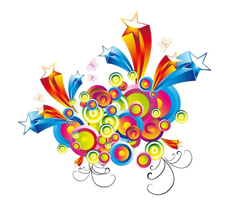 Fantasy Colorful Stars Background stock image