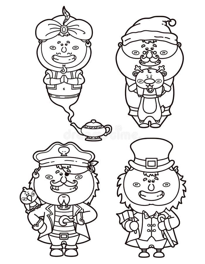 Download Fantasy coloring stock vector. Image of genie, fantasy - 32254438