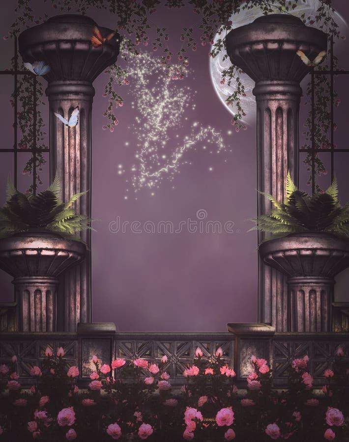 Fantasy columns and wall royalty free illustration
