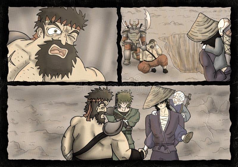 Fantasy comic cavern scene. Design of fantasy comic cavern scene vector illustration