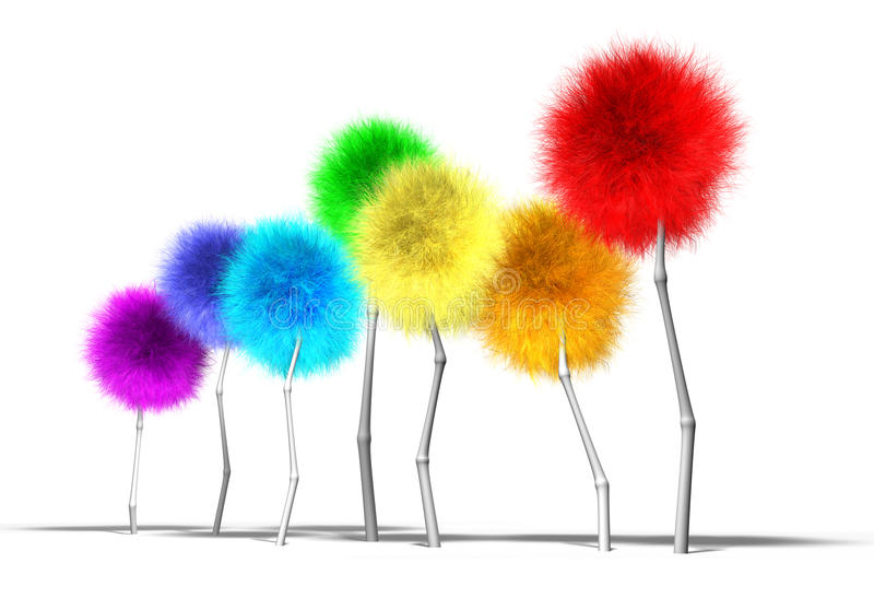 Download Fantasy Dandelion Trees Spectrum Perspective Stock Illustration - Image: 27691579