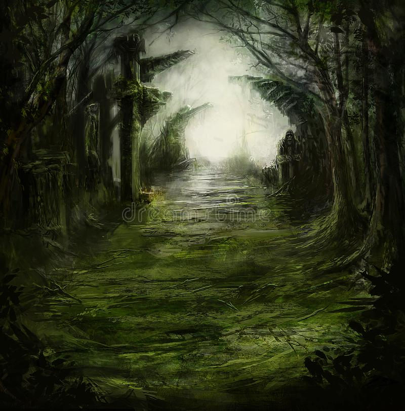 Fantasy Art Forest Ruins