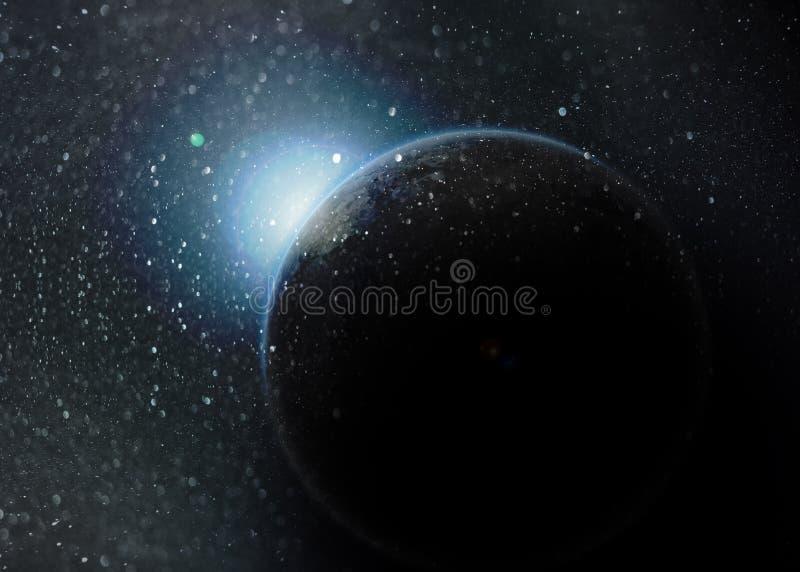 Fantasy deep space nebula royalty free illustration