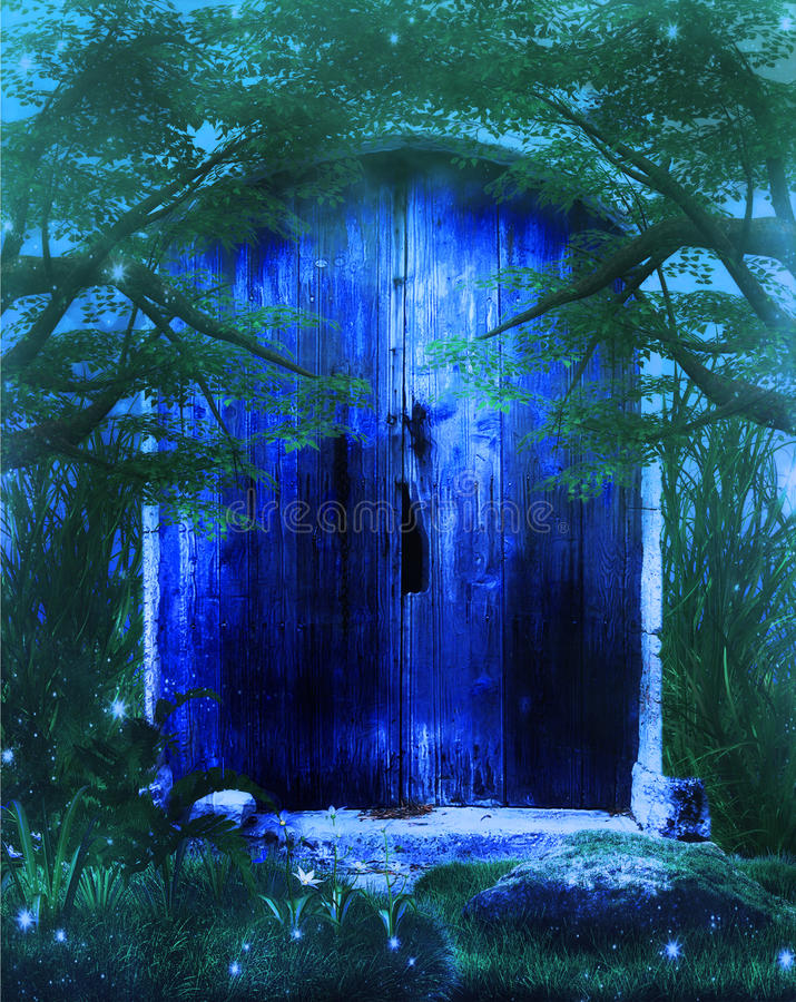 Fantasy Door stock illustration