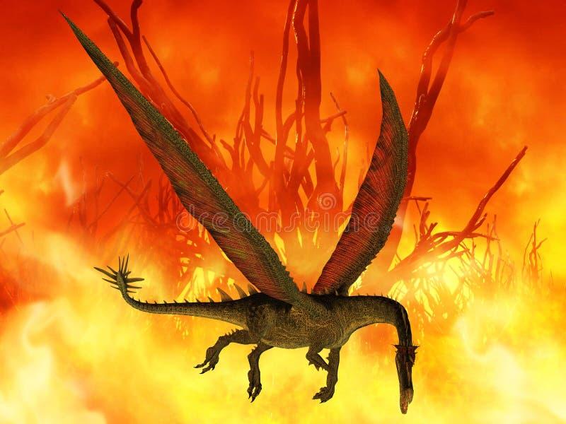 Fantasy Dragon. 3 D Render of an Fantasy Dragon vector illustration