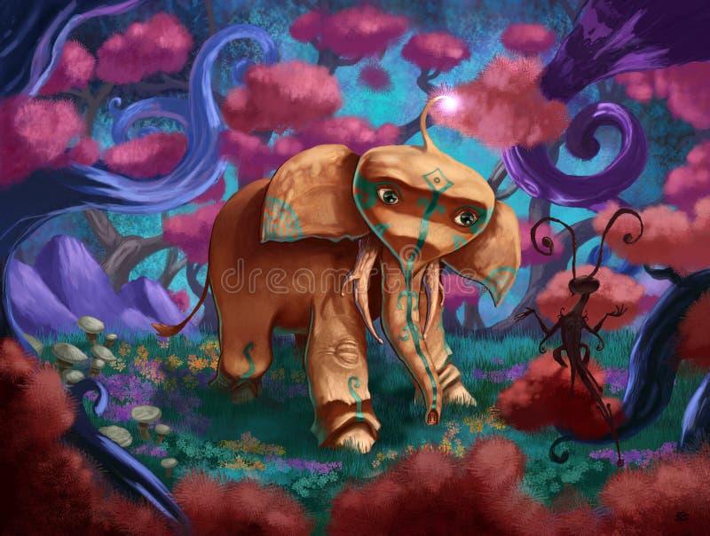 Fantasy elephant stock photo