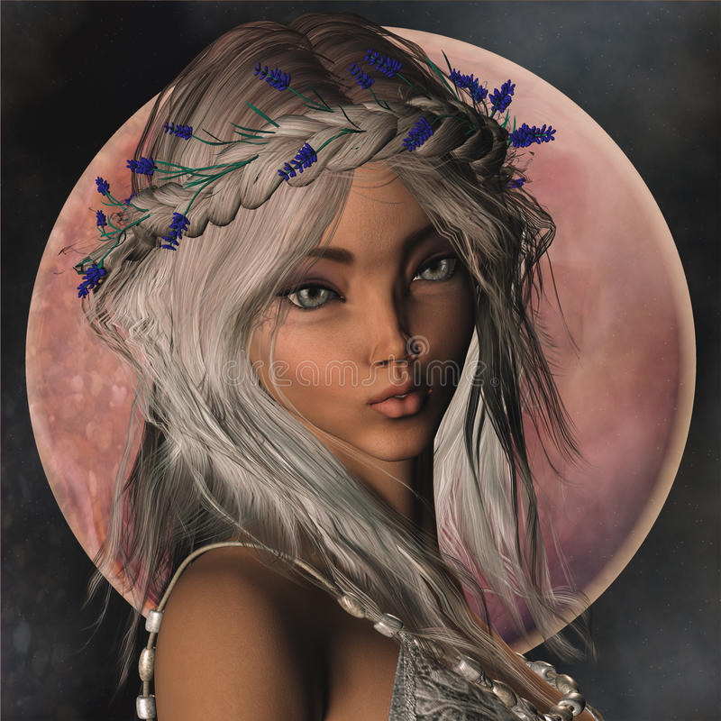 Fantasy Elf Portrait stock images