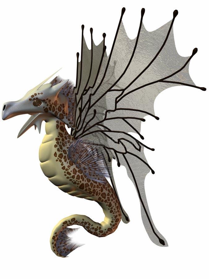 Fantasy Faerie Dragon stock illustration