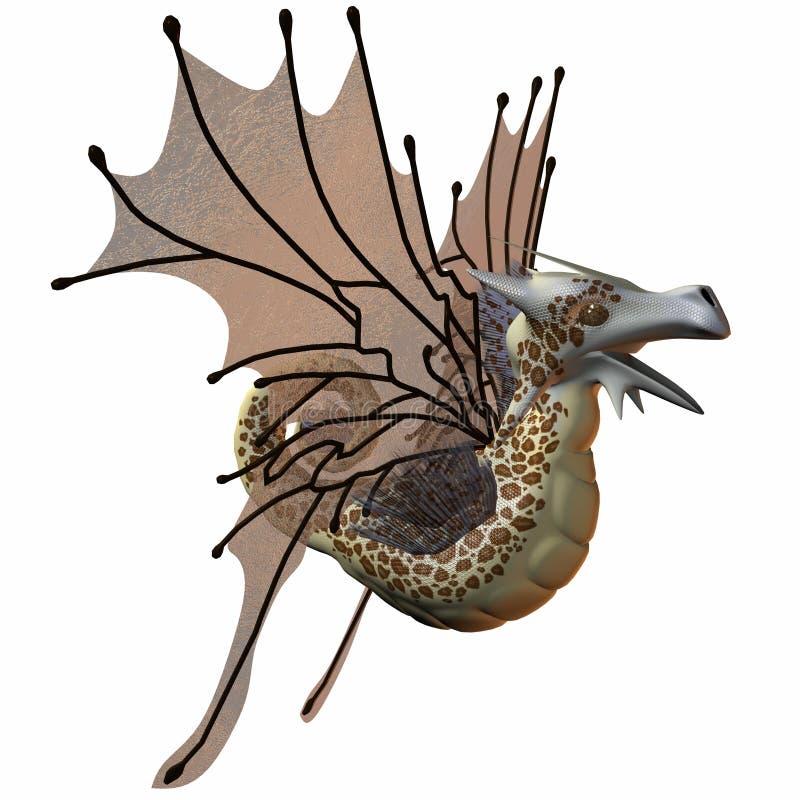 Download Fantasy Faerie Dragon stock illustration. Image of toon - 6819942