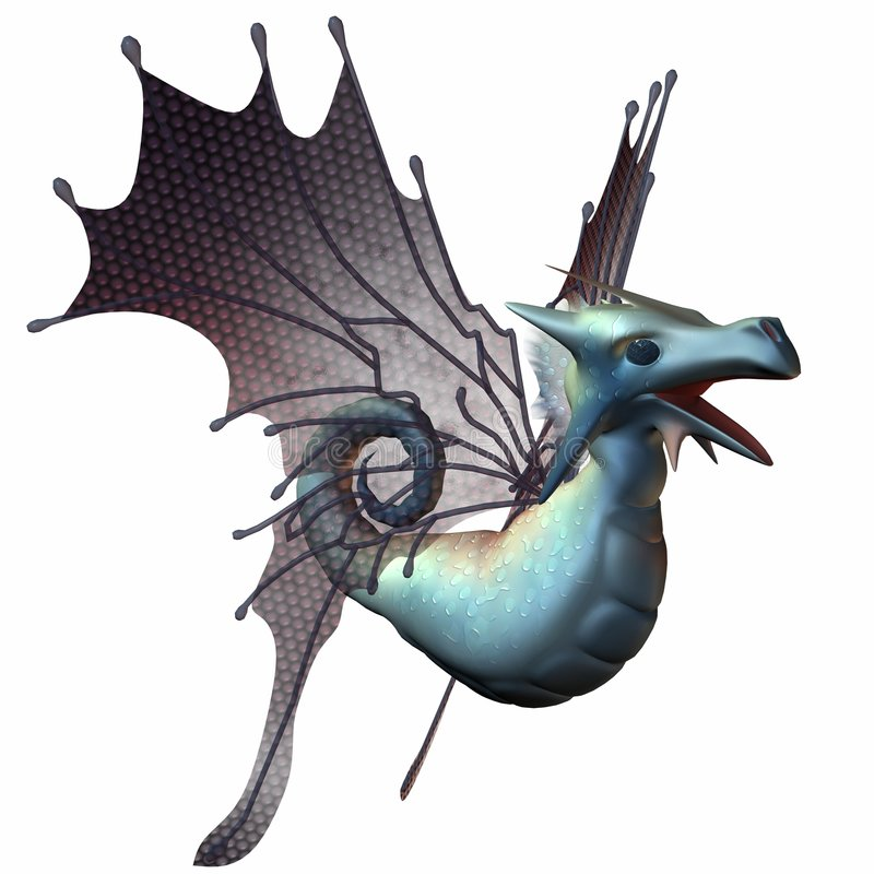 Fantasy Faerie Dragon vector illustration