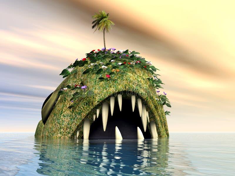 Fantasy Fish. Computer generated 3D illustration with Fantasy Fish royalty free illustration