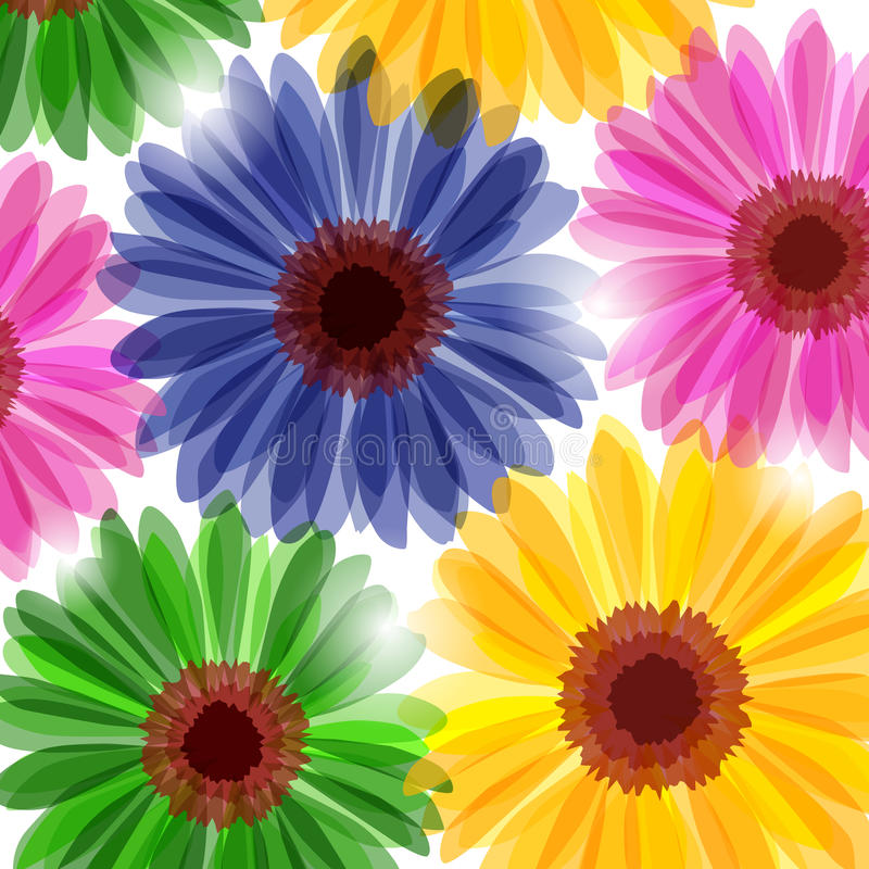 Download Fantasy floral background stock vector. Image of daisy - 16384610