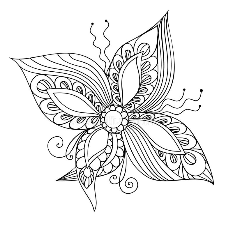 Fantasy flower vector illustration