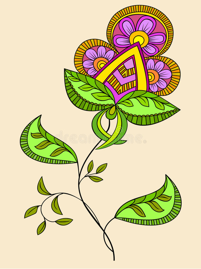Fantasy flower stock illustration