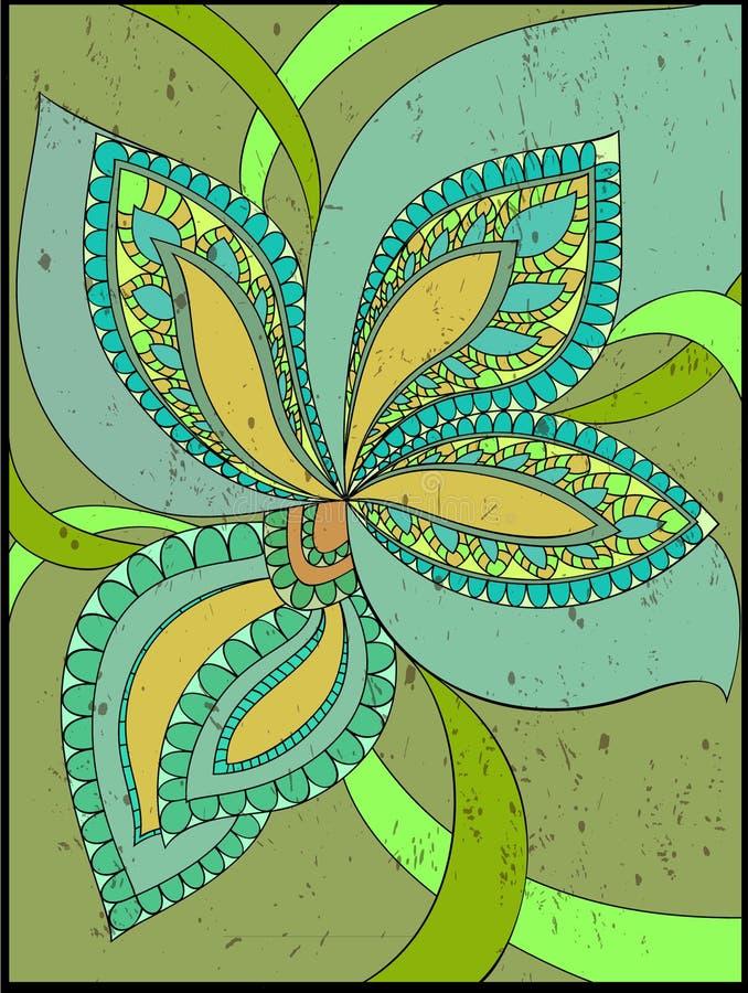 Fantasy flower vector illustration