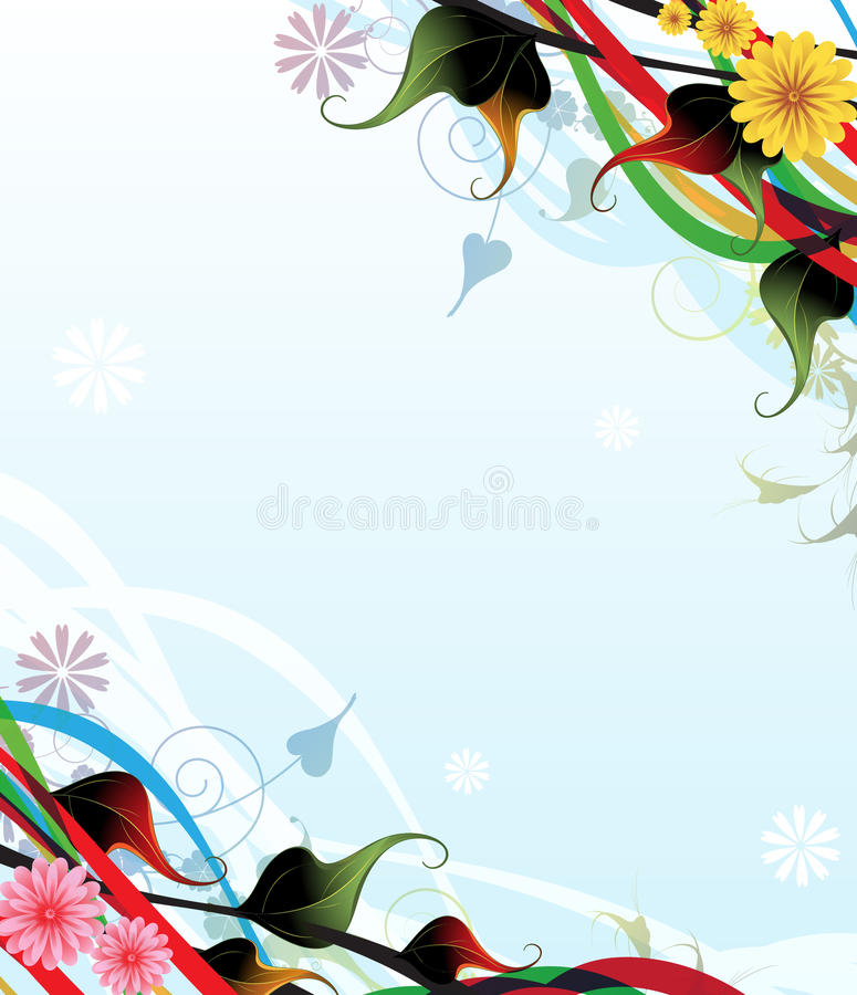 Download Fantasy Flowers stock vector. Illustration of holiday - 20462045