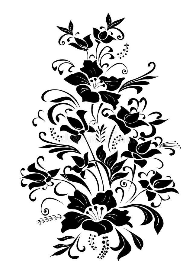 Fantasy flowers stock image