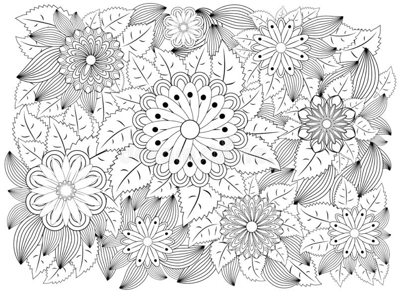 Sunflower Coloring Page Stock Illustrations – 363 Sunflower ...