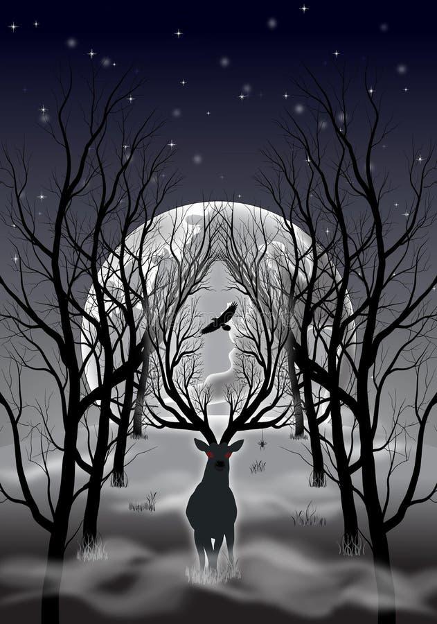 Fantasy forest royalty free illustration