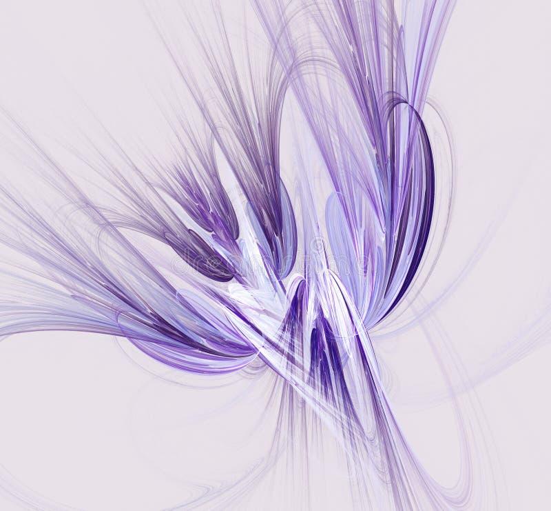 Fantasy fractal design in blue and purple colors. Digital art. stock illustration