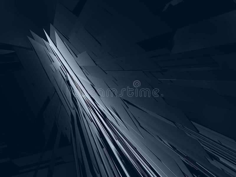 Download Fantasy Futuristic Constructions In A Dark Scene Royalty Free Stock Photography - Image: 6554707