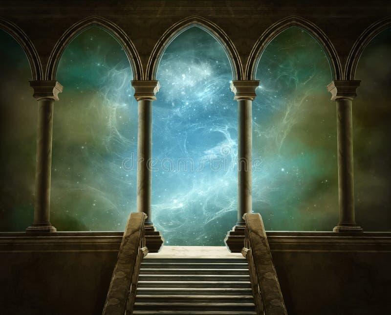 Fantasy gallery royalty free illustration