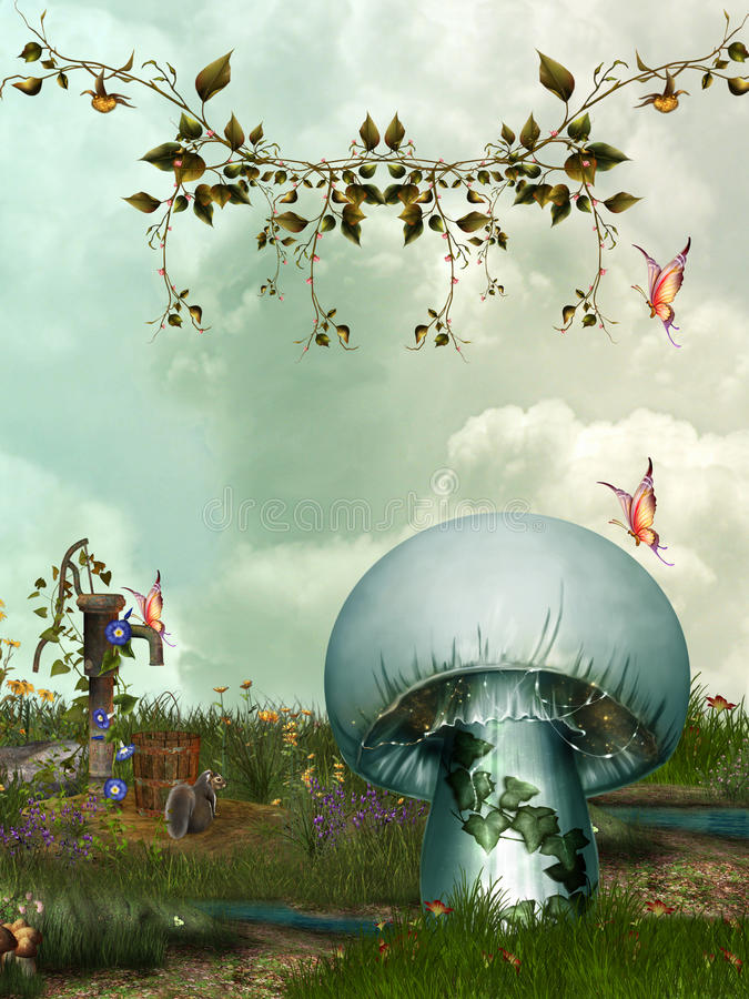 Download Fantasy garden stock illustration. Image of colorful - 19531660