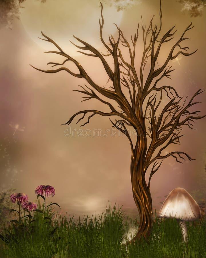 Fantasy garden royalty free illustration
