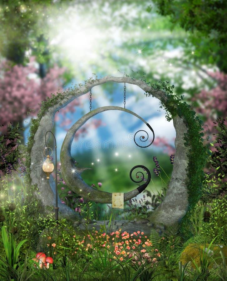 Free Fantasy Garden Near A Forest Royalty Free Stock Photos - 88715398