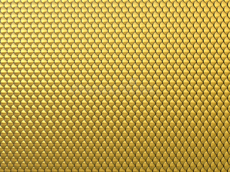 Gold Mail: Fantasy Golden Squama Background Or Texture. Stock