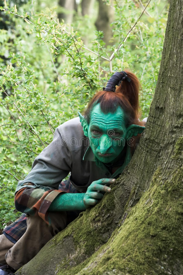 Fantasy green Elf stock image