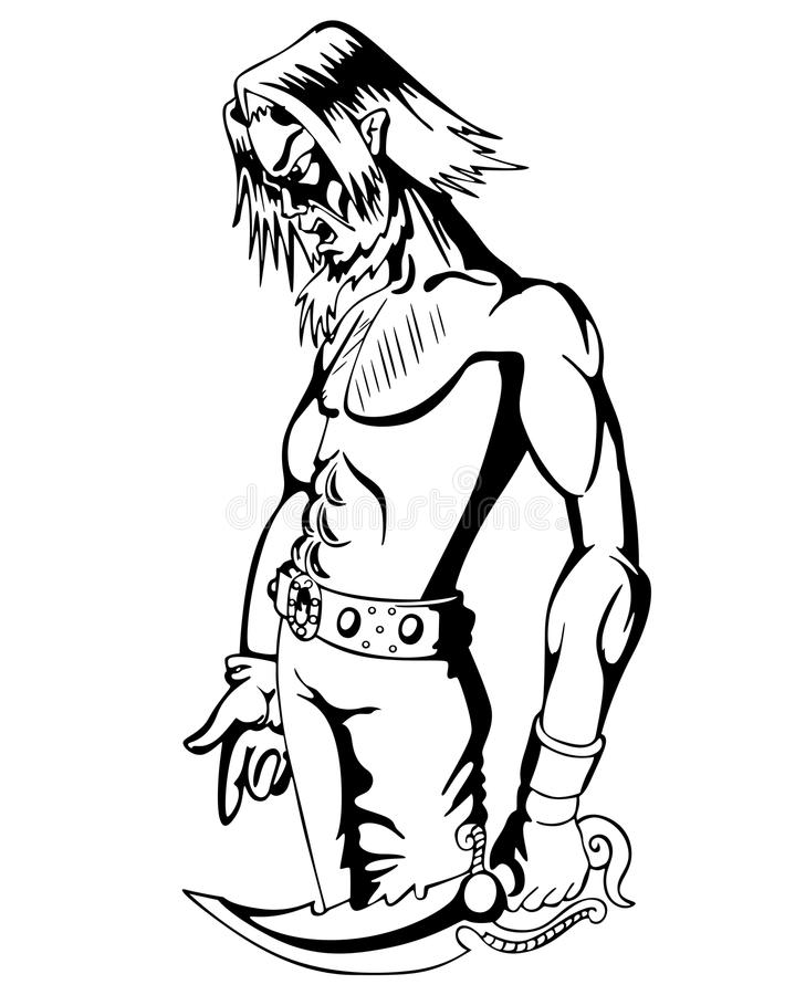 Fantasy guy with dagger