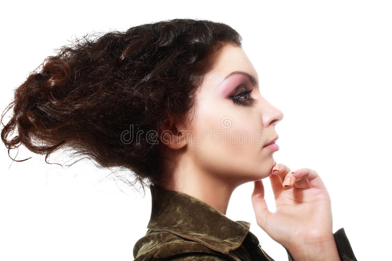 Fantasy hair style stock images