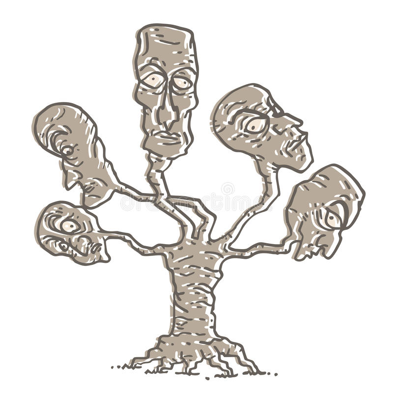 Fantasy heads tree