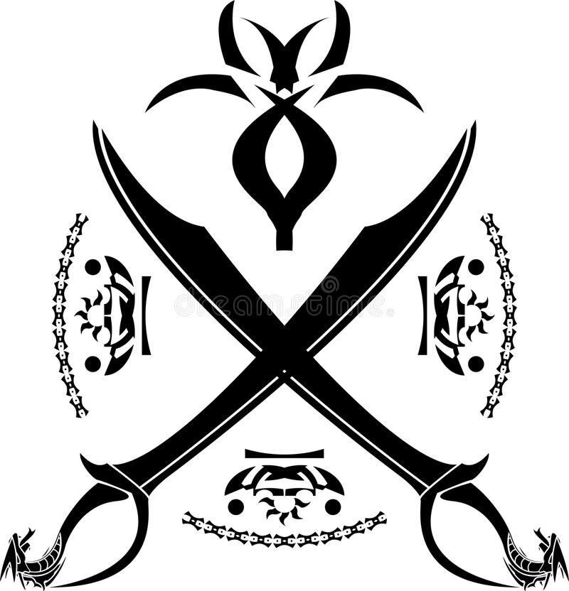 Download Fantasy heraldic symbol stock vector. Image of object - 34008726