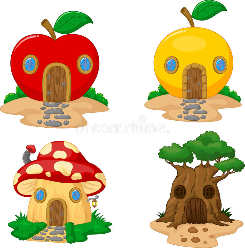 Fantasy house collection stock illustration