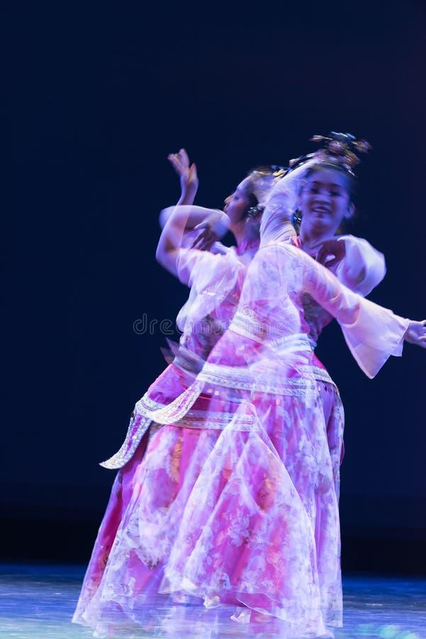 Fantasy illusion-Folk classical dance stock images