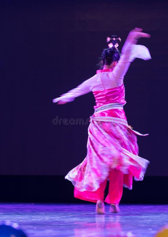 Fantasy illusion-Folk classical dance stock image