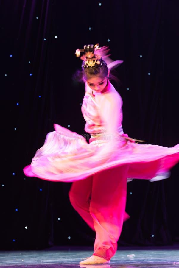 Fantasy illusion-Folk classical dance stock photography
