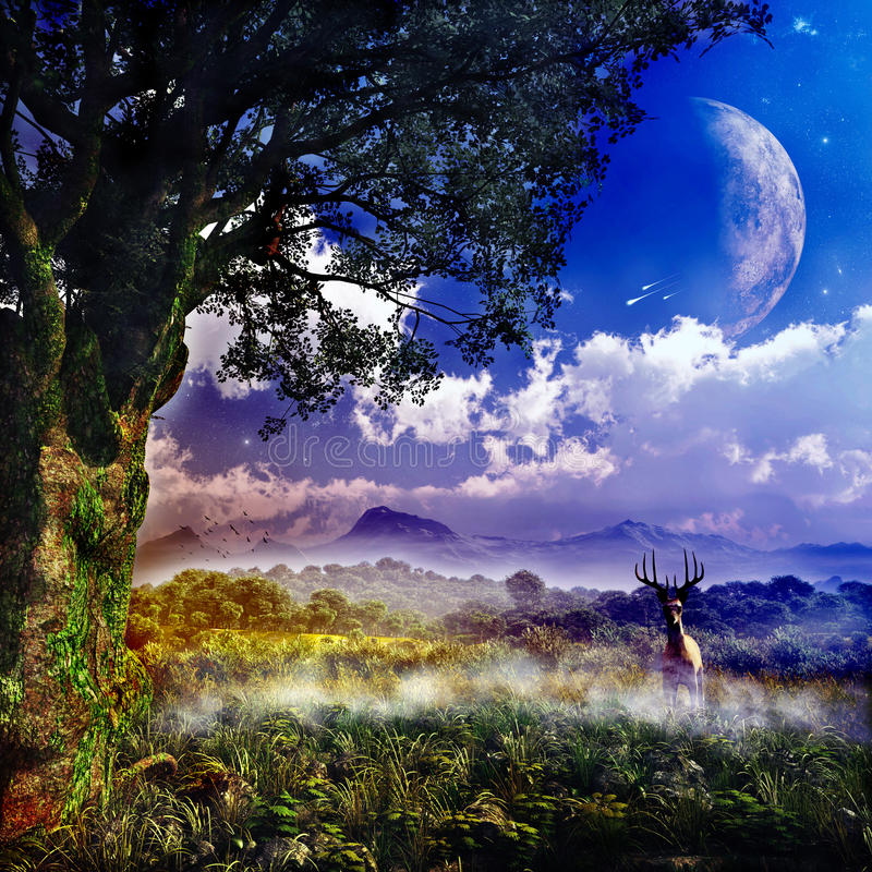 Fantasy Landcape royalty free stock images