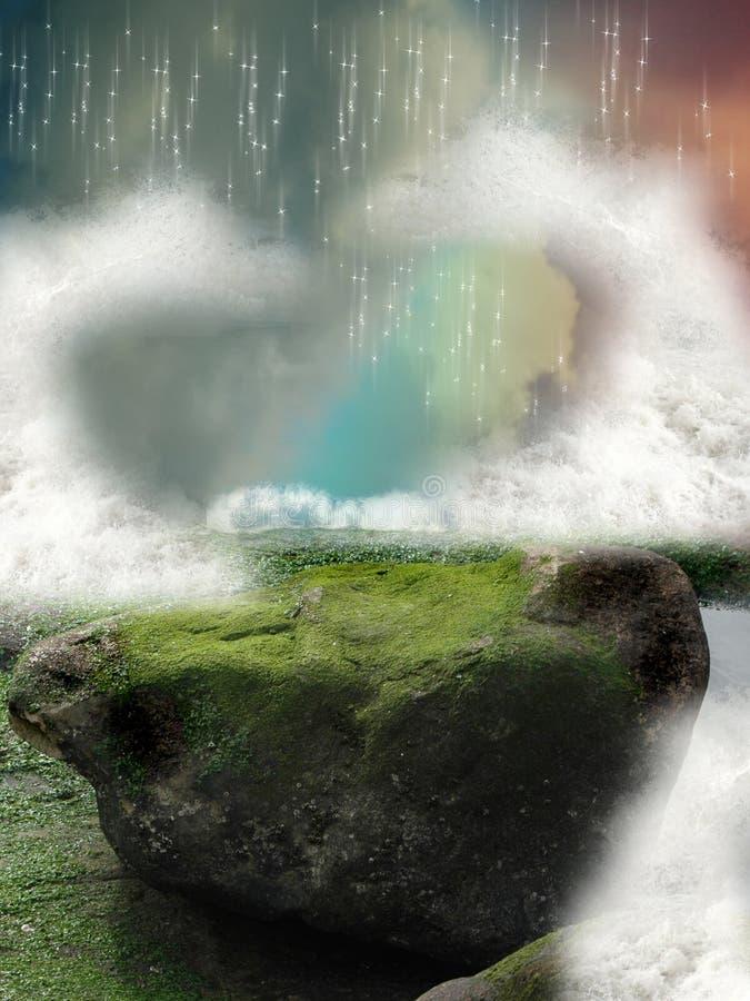 Download Fantasy landscape stock photo. Image of dream, colored - 14812124