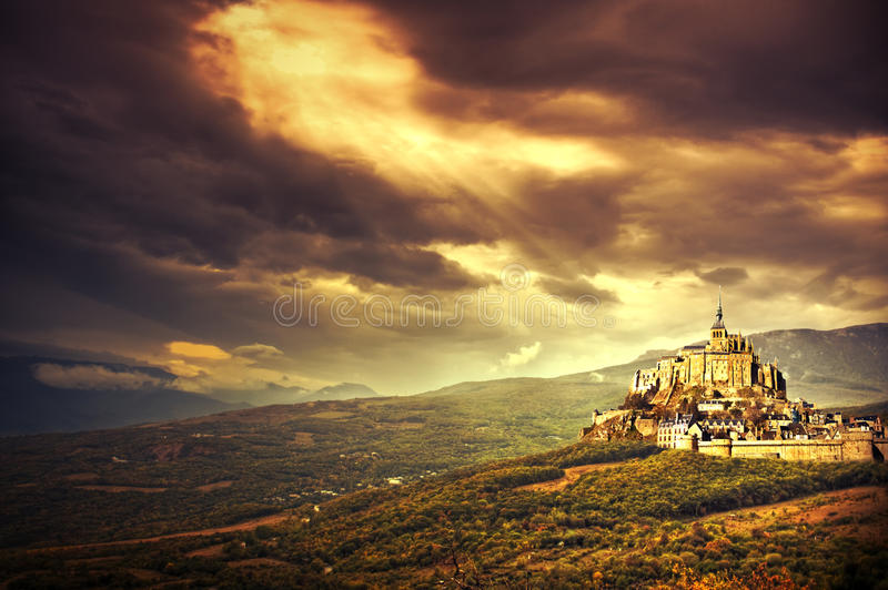 Fantasy landscape royalty free stock photography