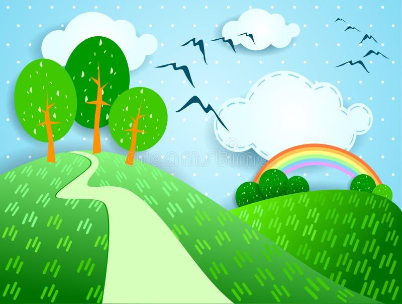 Download Fantasy landscape stock illustration. Image of cartoon - 24709012