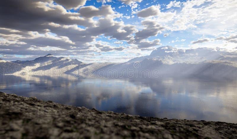 Download Fantasy landscape stock illustration. Image of cloud - 28679010
