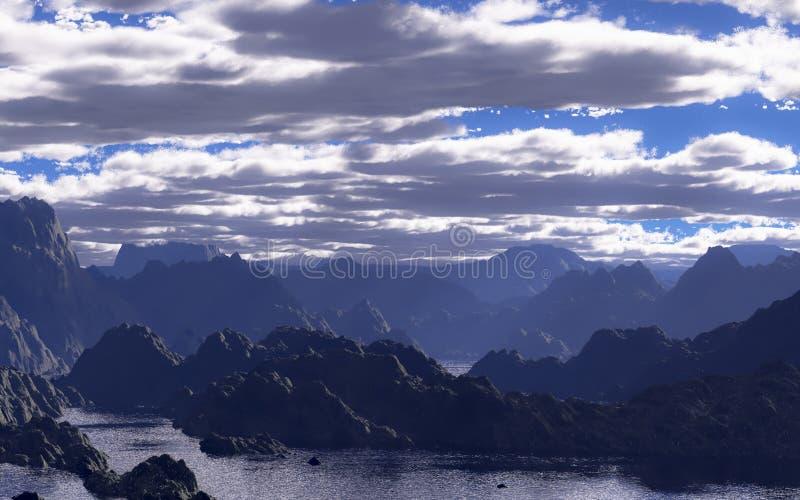 Download Fantasy landscape stock illustration. Image of light - 28679079