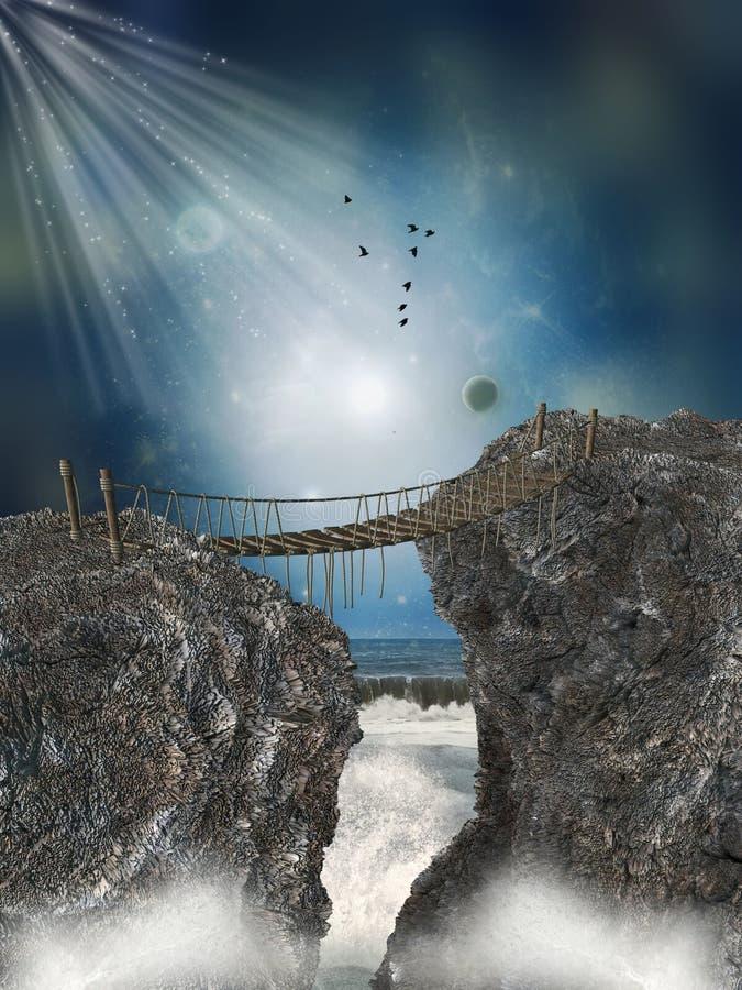 Fantasy landscape vector illustration