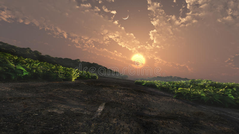 Fantasy Landscape With Road royalty free stock images