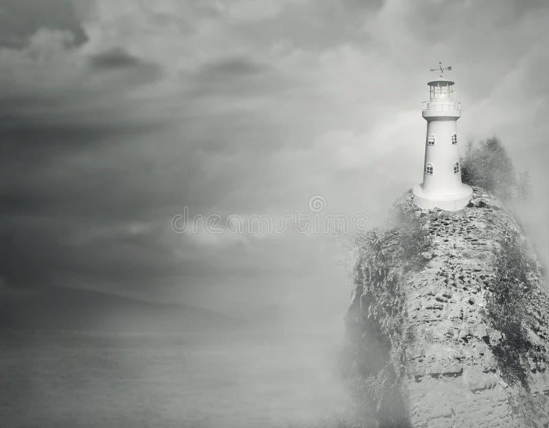 Fantasy lighthouse stock image