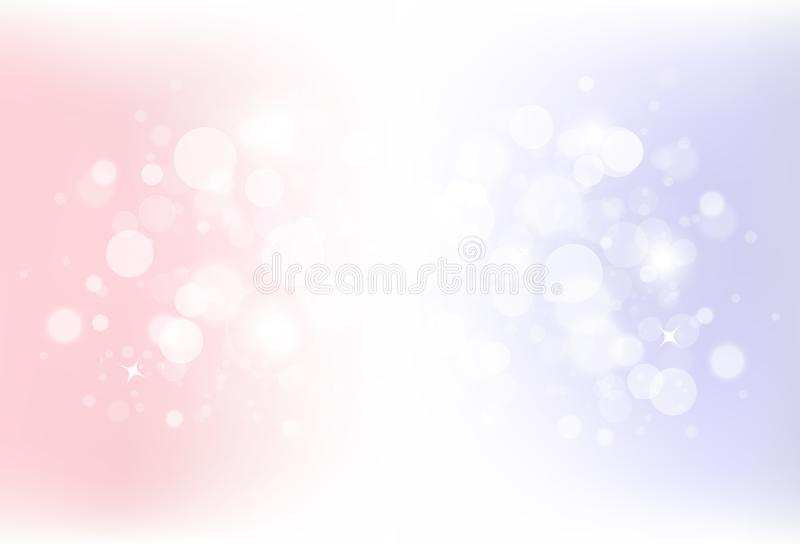 Fantasy magical bokeh blurry scatter with stars dust glitter spa vector illustration